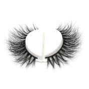 3D Faux Mink Eyelashes Human Hair Strips Natrual Lashes Strip Eye Lash Easy Apply Fake Eyelashes Reusable with Beauty Case by FADLASH