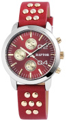 Raptor Watch with Red Leather Band Analogue 197825000054