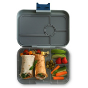 YUMBOX TAPAS (Flat Iron Grey) 4 compartment Leakproof Bento lunch box for Pre-teens, Teens & Adults
