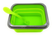Lunch Box with 1 Compartment Silicone Green) green
