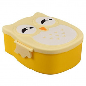 Sukisuki Cute Owl Shape Bento Lunch Box Portable Plastic Food Storage Container for Kids Girls size one size