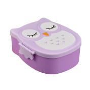 Sukisuki Cute Owl Shape Bento Lunch Box Portable Plastic Food Storage Container for Kids Girls