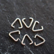 Sterling Silver (925) Triangle Bails | Pack of 50 | 5mm Triangle Bail | Variety of Pack Sizes | Free Delivery