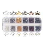 Naler 120pcs Lobster Clasps + 900 Iron Jump Rings for Jewellery Making Findings Accessories