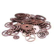 Demiawaking 100Pcs Mixed Steampunk Gears and Cogs Charms Antique Gear Wheel Watch Parts for Jewellery Making Crafts Art DIY Accesories