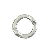 YC 50 Silver Tone Circle Bead Frames 13mm Findings Loose Metal Beads Craft DIY Jewellery Making Findings Charms Pendants