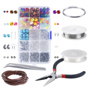 Biging Jewellery Making Starters Kit Jewellery Findings Set Jewellery Beading Making kit for Jewellery Craft and Jewellery Making