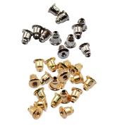 Baosity 100pcs Stud Earring Backs Bullet Barrel Earnut Stopper Ear Nut Bell Parts