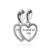 FUNSHOPP Autumn Hearts of Friendship Beads DIY Fits for Original Pandora Bracelets 925 Silver Charm Jewellery