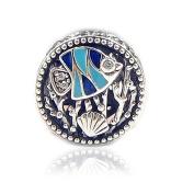 FUNSHOPP European Summer Ocean Life Sea Fish Coral Bead 925 Silver DIY Fits for Original Pandora Bracelet Charm Jewellery