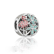 COOLTASTE Summer Collection Tropical Flamingo Beads 925 Silver DIY Fits for Pandora Bracelets Women Jewellery