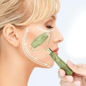 Jade Roller Face Massager, Ularma Natural Beauty Neck Facial Slimming Massage Tool