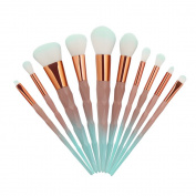 TopTen Makeup Brush Set, 10Pcs Professional Synthetic Cosmetics Foundation Blusher Blending Concealer Eyeliner Face Powder Beauty Brushes Cosmetics Makeup Brush Kit