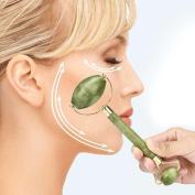 FEITONG Hot!!!Facial Massage Jade Roller, Natural Facial Beauty Massage Tool Jade Roller Face Thin Massager