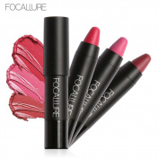 3pcs FOCALLURE Soft Smooth Matte Lipstick Crayon Kit Lasting Waterproof Lip Rouge Makeup Lip Beauty