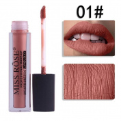 Wawer MISS ROSE Multicolor Velvet Matte Liquid Lipstick,Moisturiser Long-lasting/ Kissproof/ Waterproof Lipstick Cosmetic Beauty Makeup,42g