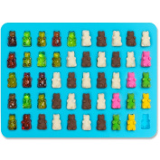 Dolland 2 Pcs 50 Cavity Gummy Bear Moulds - Non-Stick Silicone Candy Mould Trays - Food Grade & BPA Free - Create Delicious Desserts - Suitable For Candy, Chocolate, Jelly, Ice Cream