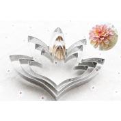 BetterM 3pcs/set Tuberose Flower Petal Cake Stainless Steel Mould Cake Decorating Tools