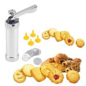 Cookies Press Maker, Justdolife Cookie Extruder Press Machine Biscuit Maker Cake Making Decorating Set