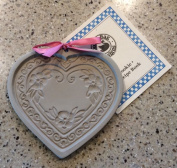 Brown Bag BLOSSOM HEART Cookie Mould -RARE HARD TO FIND Brown Bag Clay Art Cookie Mould 2002 NATKIEL BLOSSOM HEART