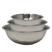 Durable Stainless Steel Mixing Bowl Combo of 9ls (36cm) - 9ls ( 40cm ) - 9ls (44cm) Multipurpose Cooking Baking Salad Footed Mixing Bowl Mirror Finish Three Size Combo Set