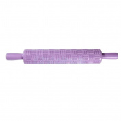 purple lattice - Various Sugarcraft Cake Fondant Rolling Pin Embossed Decorating Mould Stick