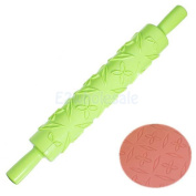 Green wicker - Various Sugarcraft Cake Fondant Rolling Pin Embossed Decorating Mould Stick