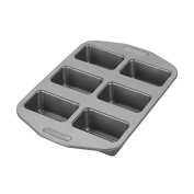 Kitchen Rectangular 6 Cup Mini Carbon Steel Bake Meat Loaf Pan with Scraper Combo