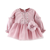 Clode® For 0-2 Years Old, 2PC Toddler Kids Girls Embroidery Bubble Dress Princess Grenadine Dress+Bag Set