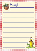 20 Tolle Perforated Recipe Cards Printed on Both Sides – Olive Oil, Size A5