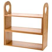 SNOW-Shelf Shelf Spice rack Adjustable Solid wood kitchen mesa Corner 42*15*45cm