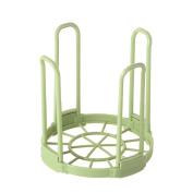 Pu Ran Kitchen Bowl Draining Basket Detachable Plastic Layer Storage Dish Drying Rack - Green