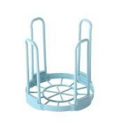 Pu Ran Kitchen Bowl Draining Basket Detachable Plastic Layer Storage Dish Drying Rack - Blue