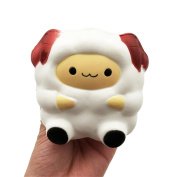 Ouflow Jumbo Squishies Kawaii White Lamb Cream Scented Slow Rising Decompression Squeeze Toys Children Simulation Cute Sheep Toys