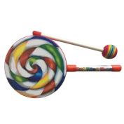 TOOGOO Kids Percussion Lollipop Drum, 15cm