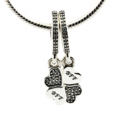 BAKCCI Fashion Autumn Authentic 925 Sterling Silver Best Friends Forever Beads DIY Fits for Original Pandora Bracelets Charm Jewellery