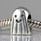Ghost Charms for Halloween Gift 925 Sterling Silver Bead for European Snake Chain Bracelet