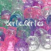 Baby Glitter Pony Beads - 9 x 6mm - Aqua, Light Pink, Lilac, Silver & Light Blue Glitter
