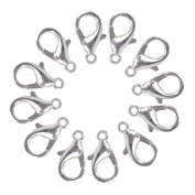 400pcs Silver Plated Alloy 12mm DIY lobster clasps hooks For Jewellery Making