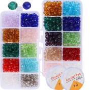1500 Pieces Printed Colourful Beads with 2 Rolls Beading Thread