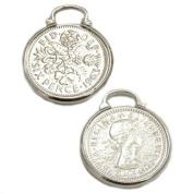 Lucky Sixpence Charm - Silver Plated - Wedding Garter
