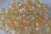 50 x Gold Glitter Sparkle Heart Pony Beads - 13mm