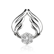 ATHENAIE 925 Sterling Silver Love Angel Wings with Clear CZ Charms