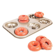 Bakeware Mould, Sacow Nonstick Donut Cookie Bakeware Mould Carbon Steel Cake Fluted Baking Pan Tool