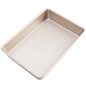 CHEFMADE Non-stick 33cm Deep Dish Rectangular Cake Pan, Heavy-duty Carbon Steel FDA Approved, Oven Roasting Bread Baking Loaf Pan 35cm x 25cm