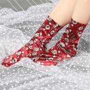 Orangeskycn Ankle Socks Fashion Velour Print Floral Short Socks
