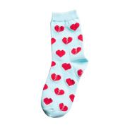 Orangeskycn Womens Socks Ankle Cartoon Love Heart Printing Socks Spring Summer