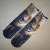 Orangeskycn Ankle Socks 3D Printed Unisex Casual Cartoon Shape Funny Socks