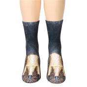 Orangeskycn 3D Fashion Socks Unisex Medium Socks For Women Man Adult Animal Paw Print Crew Socks