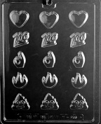 Bite Size Assorted Emoji's Chocolate Mould - M256 - Includes Melting & Chocolate Moulding Instructions